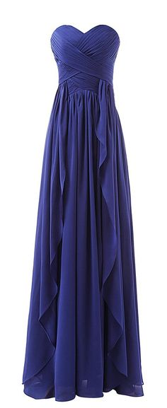 Lovelybride Sweetheart Chiffon Long Ruffles Bridesmaid Dresses Prom Gowns at Amazon Women's Clothing store: