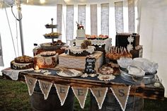 Love this sweets bar!! http://www.countryoutfitter.com/style/real-country-wedding-courtny-cordosa/