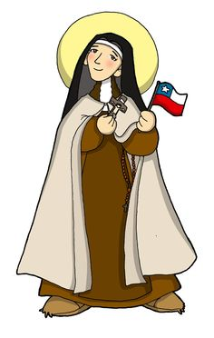Dibujos para catequesis: SANTA TERESA DE LOS ANDES