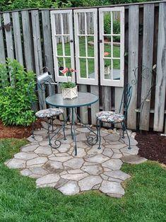MENTŐÖTLET - kreáció, újrahasznosítás: Ablakos kerti terasz