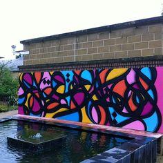 New Street Art Mural By El Seed the University of Exeter In UK. 1