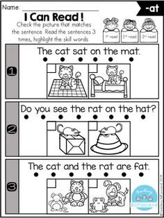 This phonics fluency check is the perfect way for students to practice phonics, reading fluency, and comprehension. These sets are ideal for beginning readers in kindergarten and in first grade to build confidence in reading. Kindergarten Classroom Decor, Homeschool Kindergarten, Teaching Kindergarten, Kindergarten Worksheets, Homeschooling, Preschool, Kindergarten Lesson Plans, Phonics Worksheets, Music Classroom