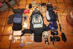 World tour Backpack fully unpacked, Eberlestock Halftrack