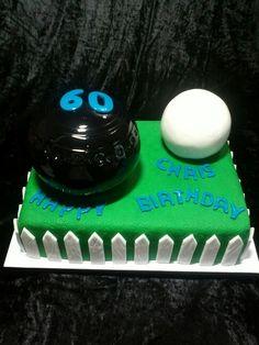 Life size Lawn Bowls Cake