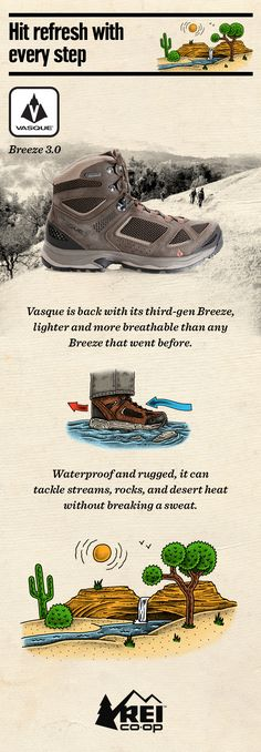 Feel the flow with the lightest, most breathable Breeze boots to ever tromp the trail. Introducing the Men's Vasque Breeze III Mid GTX Hiking Boots. Shop now at REI.com.