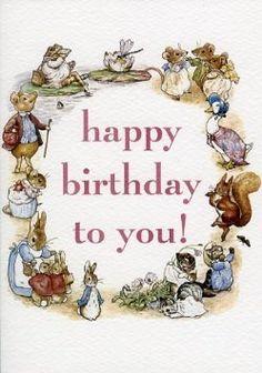 Happy Birthday To You! Beatrix Potter carte de voeux