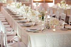 Ivory linens with lace runner?
