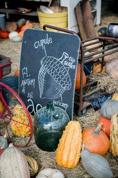 Just imagine how cute this acorn sign would look displayed on your fall porch.