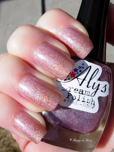 *SOLD - SHIPPING MONDAY* Aly's Dream Polish #1 Misty Rose SW + 2 accent nails (prefer to swap for another Aly's or $8 + ship and PP fees)