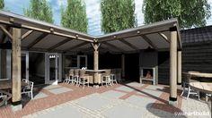 www.artbuild.nl Verbouw Tennisvereniging Schoorl, impressie buitenbar - veranda.