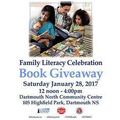 THIS WEEKEND From @halifaxnoiseKIDS / @literacyns1  #FamilyLiteracy #BookGiveaway Saturday January 28 noon to 4pm at Dartmouth North Community Centre #FreeBooks #AuthorReadings #Music #FLD2017  To celebrate Family Literacy Day Literacy Nova Scotia is giving away over 2000 brand new Disney books suitable for ages 4-12. Families are welcome to join us at our book giveaway on January 28th to receive new books and enjoy author readings live music literacy activities and refreshments too! There…