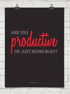 """Too often we are so """"busy"""" that we forget to do something productive, something that creates life and change for the better."""