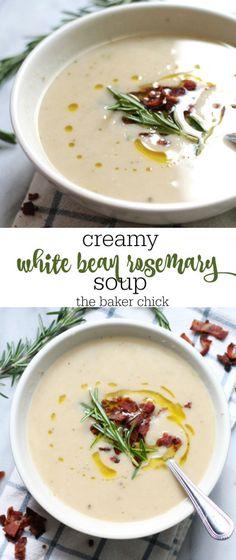 Creamy White Bean Rosemary Soup