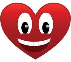 This heart has a big grin for someone you know!