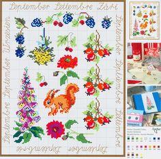 September Flowers free cross stitch pattern from www.coatscrafts.pl