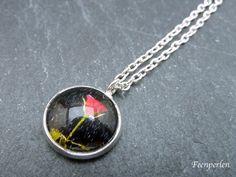 CollierKette / Halskette Rose im Regen von Feenperlen auf DaWanda.com