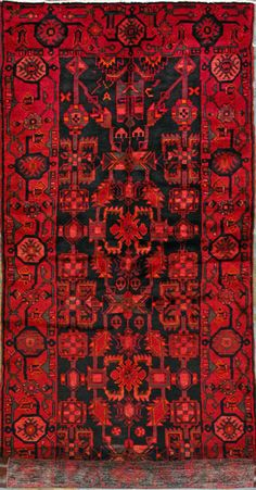 "Nahavand Persian Rug, Buy Handmade Nahavand Persian Rug 3' 9"" x 10' 6"", Authentic Persian Rug"