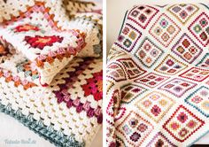Another inspiration for Granny Blanket :) Crochet Afghans, Crochet Patterns Amigurumi, Crochet Granny, Crochet Motif, Crochet Hooks, Knit Crochet, Crochet Crafts, Yarn Crafts, Crochet Projects
