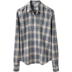 Steven Alan Reverse Seam Shirt (505 BRL) ❤ liked on Polyvore featuring tops, blouses, shirts, flannels, women, button-down shirts, flannel button down shirt, long sleeve plaid shirts, long sleeve button down shirts and shirts & blouses