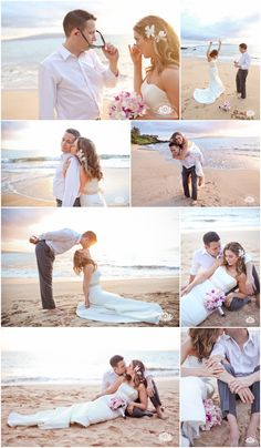 From New York to Maui!  Simple, sweet, fun and full of love. Congratulations!