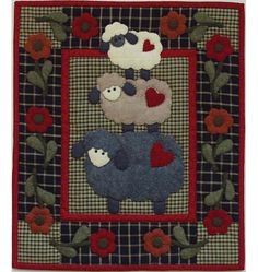 McCall Patterns:  Wooly Sheep Wall Hanging Quilt Kit / So darned cute!