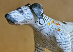 Dalmatian Whimsical Paper Mache Dog Sculpture by PaperPort on Etsy, $350.00