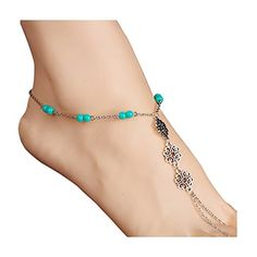 Geerier Simple And Layered Anklet Beaded Infinite Leaf Gold Disc Anklet Beach Foot Jewelry  Simple Anklet, Single And Layered  There Are 5 To Choose  Fashion And Elegant  Match With Suitable Apparel For Different Occasion  90-day Money Back or Products Exchange Guarantee