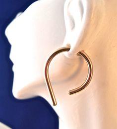 Gold 8 Gauge Hoop Earrings by SilverSunStudio on Etsy
