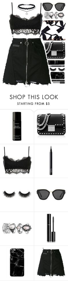 """""""All Black"""" by monmondefou ❤ liked on Polyvore featuring Liberty, MICHAEL Michael Kors, NARS Cosmetics, Prada, Chanel, Harper & Blake, County Of Milan and black"""