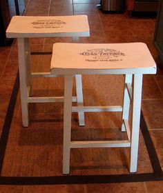 Cute stool makeover