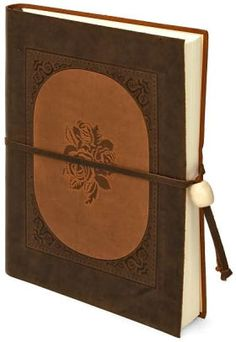 Inlay rose brown Italian leather journal from Barnes & Noble.                                                                                                                                                                                 More