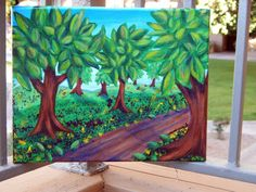 Tree painting  Forest  Trees  Abstract  Nature  by HeartsAndKeys