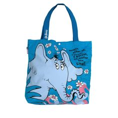Reversible Tote Bag has Multiple uses, Light-Weight Strong, Durable for Everyday use Dr Seuss Horton Hears A Who Best Tote Bags, Small Tote Bags, Horton Hears A Who, Reversible Tote Bag, Classic Quotes, Purple Backgrounds, Teacher Appreciation Gifts, Printed Bags, Bago