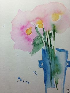 Aquarell Blumen Karte Geburtstag Cards