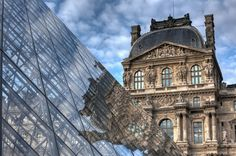 The Louvre Pyramid - Paris, France Louvre Pyramid, And So It Begins, Commercial Architecture, Beautiful Sky, Paris Travel, Great Pictures, Amazing Architecture, Paris France, Parisian