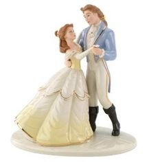 Perfect Cake Topper  Lenox Beauty and the Beast True Loves Dance... In our curio cabinet now with all our other wedding things