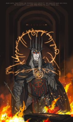 http://obscurevisionz.tumblr.com/post/91726680475/this-was-a-doodle-sauron-after-creating-the