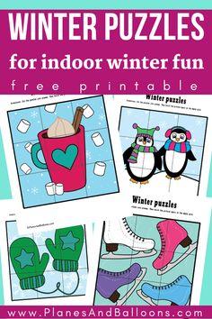 Winter Activities For Kids, Winter Crafts For Kids, Winter Kids, Preschool Winter, Winter Games, Kindergarten Activities, Classroom Activities, Fun Activities, Preschool Puzzles