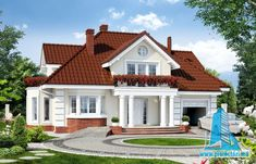 Home exterior Brownie brownie emoji Modern Bungalow House, Bungalow House Plans, New House Plans, Evergreen House, House Outside Design, House Construction Plan, Bungalow House Design, Minimalist House Design, Mansions Homes