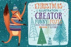 Christmas Illustration Creator/Foxes by Stella's Graphic Supply on Creative Market