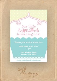 cupcake-themed first birthday party