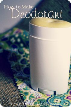 How to make a homemade deodorant that actually works! Simple and all natural. --> thinking this might be interesting to try. . .