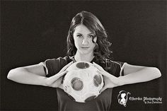 high school senior photography pose for the soccer player