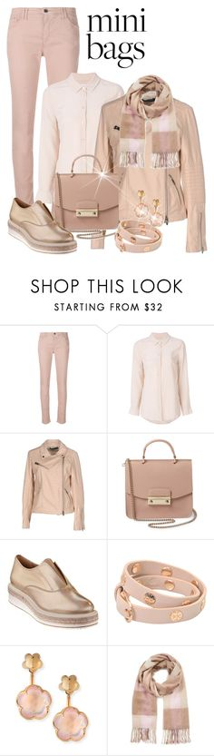 """Gorgeous Blush Shades For Fall"" by shamrockclover ❤ liked on Polyvore featuring Armani Jeans, Equipment, Street Leathers, Furla, Tory Burch, Pasquale Bruni and Miss Selfridge"