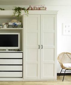Fit a TV into an alcove in your wardrobe | #IKEAIDEAS from Yvonne's @yvestown