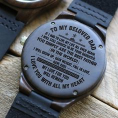 Great Gift For Dad Engraved Wooden Watch Great Gifts For Dad, Perfect Gift For Dad, Love Gifts, Gifts For Husband, Gifts For Him, Dad Gifts, Family Gifts, Couple Gifts, Love Store