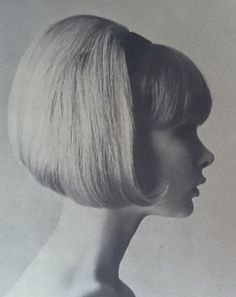 1960s bouffant bobbed hair fashion.