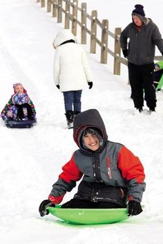 Joshua Greenspan, 9, of #Wildwood tries #sledding backwards on the exit ramp at the end of the boardwalk in North Wildwood.