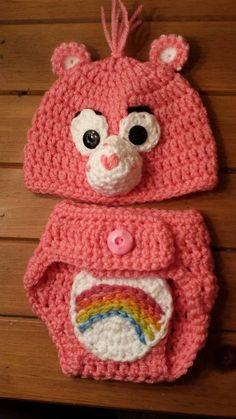 Care Bear Diaper Set  Care Bear Cheer Bear  by PunkinPatchApparel