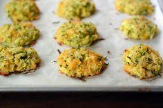 Cheesy Baked Zucchini Bites - these look amazing!